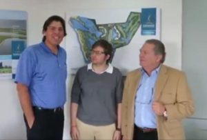 With son translator Alejandro and his father German Calle Sr.