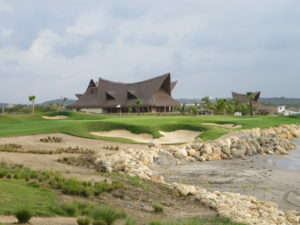 The 17th at TPC Cartagena at Karibana! Absolutely stunning & beautiful!