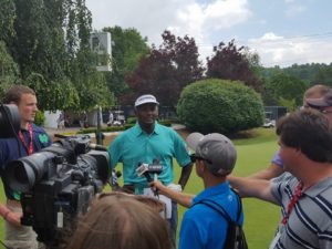 Vijay Singh in his first appearance at the DSGO!