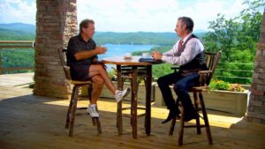 Feherty interviewing Coach Saban at The Waterfall Club. Photo Credit: SECRant.com