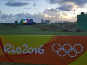 AFTER: Post 1A has been replaced with this Rio 2016 Olympic banner...
