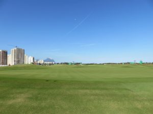 AFTER: First green from behind the green looking back at the fairway. Note the mounding and additional high rise luxury residential buildings being constructed!