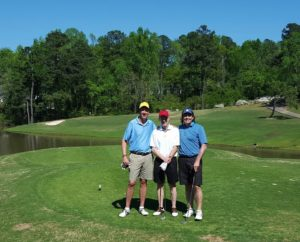 Augusta Time is Friends Time golfing at Jones Creek with Tall Jim & Happy Bill!