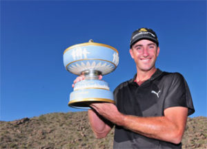 Geoff Ogilvy wins his second WGC- Accenture Match Play Championship at The Golf Club at Dove Mountain in Marana, Arizona.