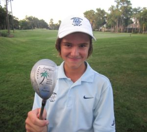 Freshman Kevin Slayden with Lauden Golf's Banana Hybrid.