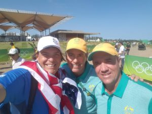 With Australian Olympic Coach Ian Baker-Finch (center) & Australian Olympic Golfer Scott Hend (right).