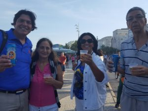 Cheers to Rio and the 2016 Summer Olympics with my Carioca friends Branca, Fatima, and Paul! TROML Baby!