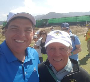 With Gary Player, a great man and a great golfer!