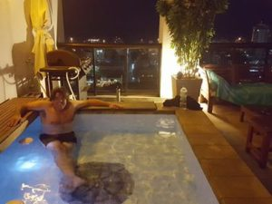 Back home as a penthouse guest kicking back in the Splash Pool after another great day of Olympic Golf!