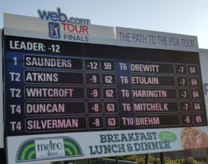 One for the record books as Sam Saunders shoots 59 in the first round of the 2017 Web.com Tour Championship!
