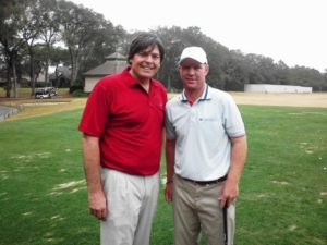 On the practice facility at GC of Amelia Island with Jacksonville's own Gator Bubba Dickerson. Hitting it so pure... 2012 will be a big year on the Nationwide Tour for the 2001 U.S. Amateur.