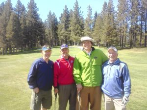 With Terry Knight, Bill Cottrill, and Vince Mastracco at Edgewood Tahoe!