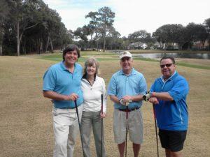 Great foursome, with Katharine Dyson, Bruce Vittner, & Tony Leodora — in Amelia City, Florida.