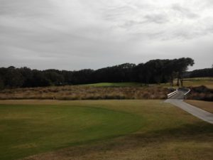 Approach shot on par-4 14th hole...wedge to 9 feet, made the putt for Birdie, I am a happy Golfer!