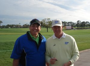 With Ernie Els when he won the 2008 Honda Classic!
