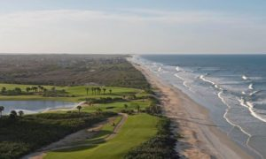 The Ocean Course at Hammock Beach Resort re-opened on November 2 after a 13-month restoration project. Pictured are holes 17 and 18. Phot Credit: Ryder Haske