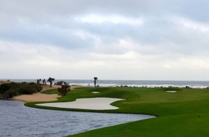 The gorgeous and all-inspiring 174-yard par-3 17th hole on the Ocean Course at Hammock Beach Resort!