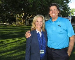 With Ann Ligouri under the Oak Tree at the 2016 Masters.