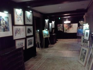 The Clubhouse at TPC Sawgrass, an art gallery!