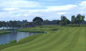 Golfplan's rendering of the new 7th hole at Seletar CC.