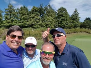 With Dan, Aaron, and Don in Round 2 at Caledonia Golf & Fish Club.