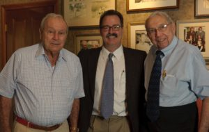 The author Chris Rodell with Mr. Palmer and Mr. Palmer's right-hand guy (even though Chris is between them!) Doc Giffin.