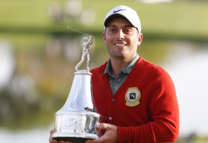 Francesco Molinari looking good in Mr. Palmer's Red Cardigan after winning the 2019 Arnold Palmer Invitational at Bay Hill! Photo Credit: Google Search