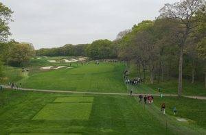 The beauty of the par-5 4th hole of Bethpage Black!