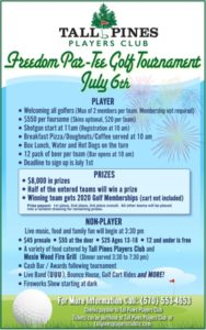 Tall Pines Freedom Par-Tee 7-6-19