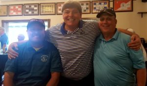 With Keith Chesk (L) and Randy White (R), and proof positive above that they have won The Montrose Club Member-Guest!