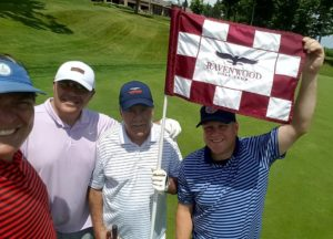 New friends made at Ravenwood, including Rich from Visit Rochester's who shot a 74 with 3 straight birdies!
