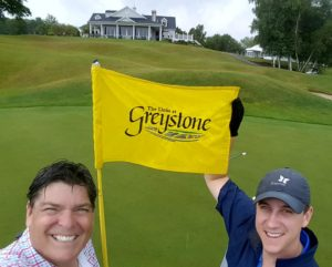 With Dusty Odenbach after playing The Links of Greystone!