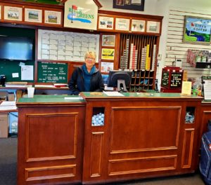 Lisa Davis manages the golf shop and I am sure lots of other parts of the operation too!